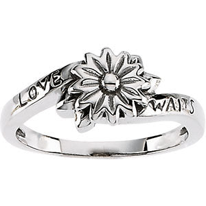 Love Waits Chastity Ring in Sterling Silver ( Size 6 )