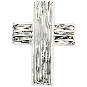 Sterling Silver 13x10mm The Rugged Cross« Lapel Pin