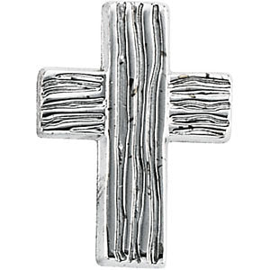 Sterling Silver 18x14.5mm The Rugged Cross® Lapel Pin