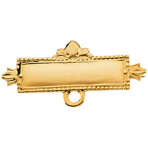 Baptismal Brooch in 14K Yellow Gold