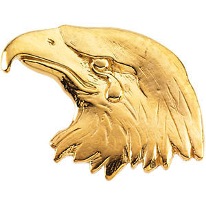 11.50x26.00 mm Eagle Lapel Pin in Sterling Silver