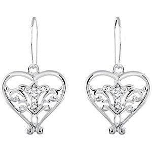 Sterling Silver Pure in Heart Earrings