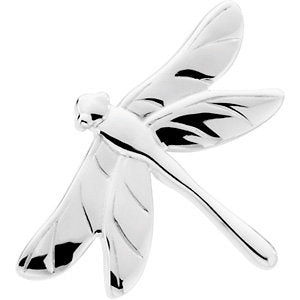 31.75x23.00 mm The Dragonfly Brooch in Sterling Silver