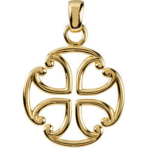 14k Yellow Gold Maltese Cross