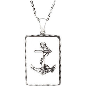 Sterling Silver Cancer Courage Necklace