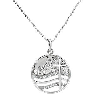 Sterling Silver Move the Mountains Lord Pendant & Chain