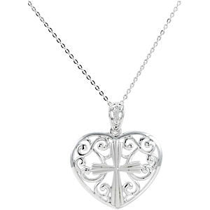 Sterling Silver The Worth of a Wife Pendant & Chain