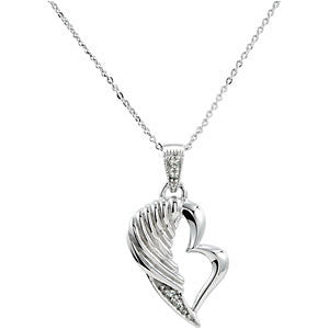 The Broken Wing Pendant and Chain with Packaging in Sterling Silver