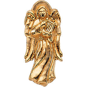 14k Yellow Gold Angel with Harp Lapel Pin