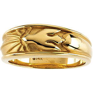 10k Yellow Gold Holy Spirit Ring, Size 6