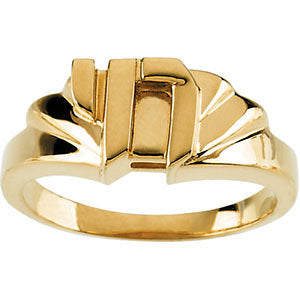 10k Yellow Gold Chai Ring, Size 6