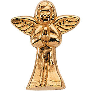 14k White Gold Praying Angel Lapel Pin