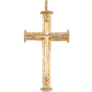 39.00x23.00 mm Cross Pendant in 18K Yellow Gold
