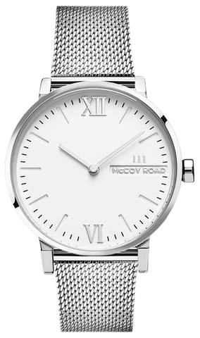 SILVER MESH/SILVER CASE WATCH