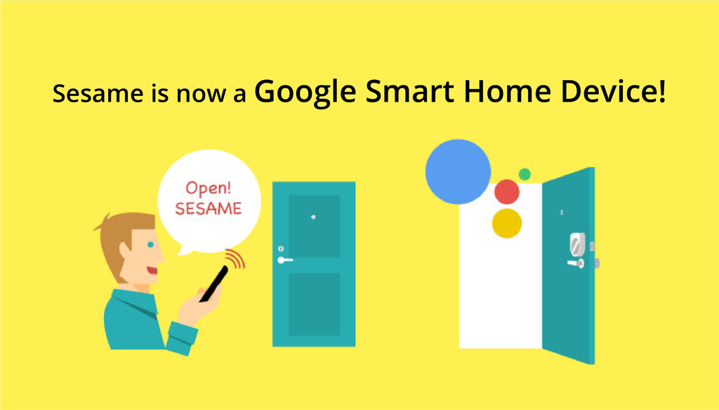 Sesame Now Available as a Google Smart Home Device!