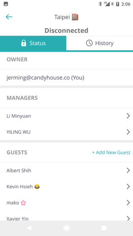 new Sesame Android app with manager list