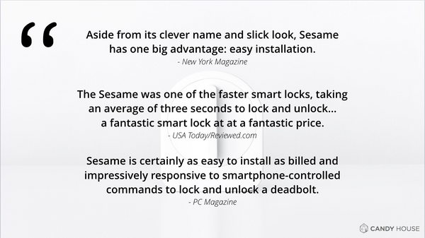 Positive press coverage of Sesame from USA Today, PC Magazine, and New York Magazine