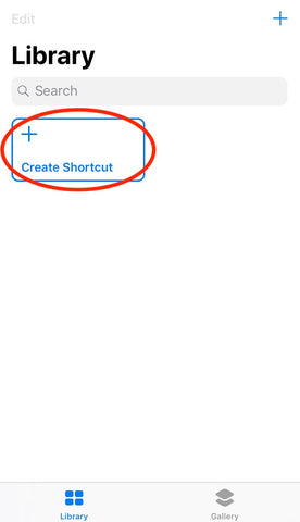 create new siri shortcut