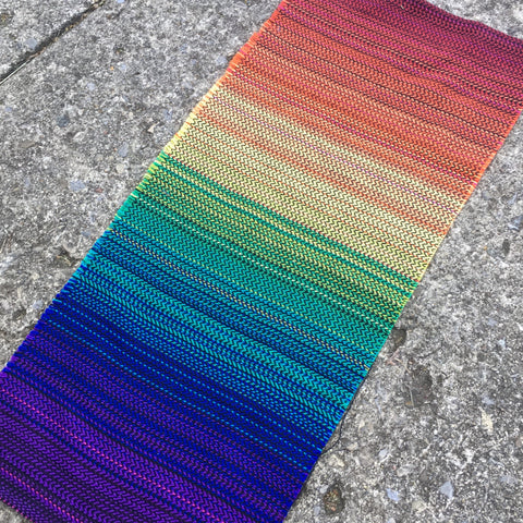 Rainbow (Black Cotton) Fabric Yardage