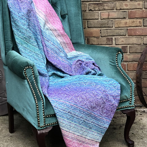 Dreamer (Silver Cotton) Throw Blanket