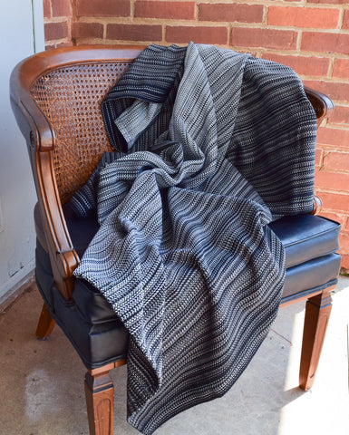 Agate (Black Cotton) Throw Blanket