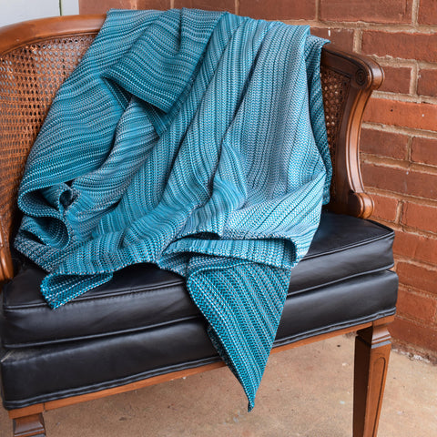 Agate (Teal Cotton) Throw Blanket