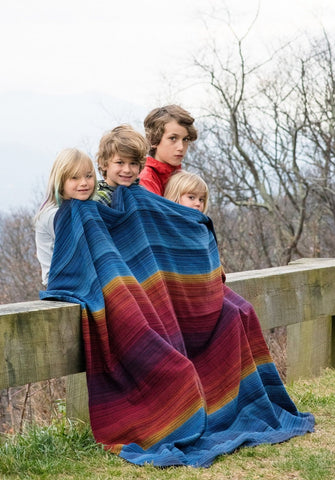 Journey (Black) Throw Blanket