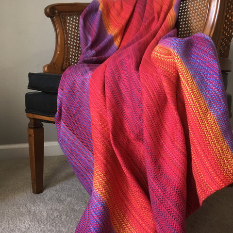 Journey (Pink) Throw Blanket