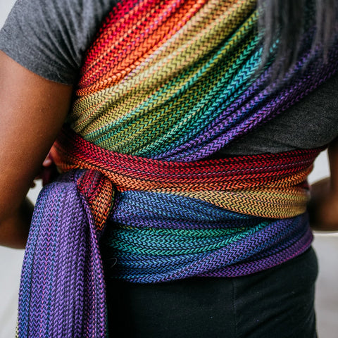 Rainbow (Black Cotton) Woven Wraps