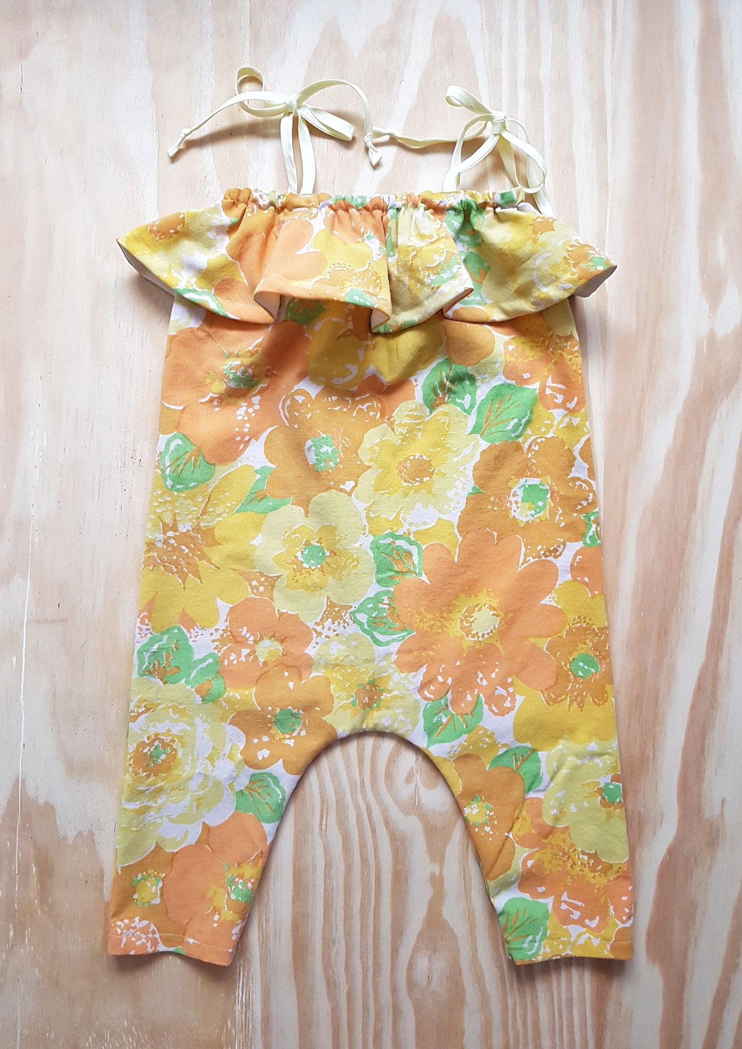 Baby Toddler Ruffle Vintage Romper - From Harper