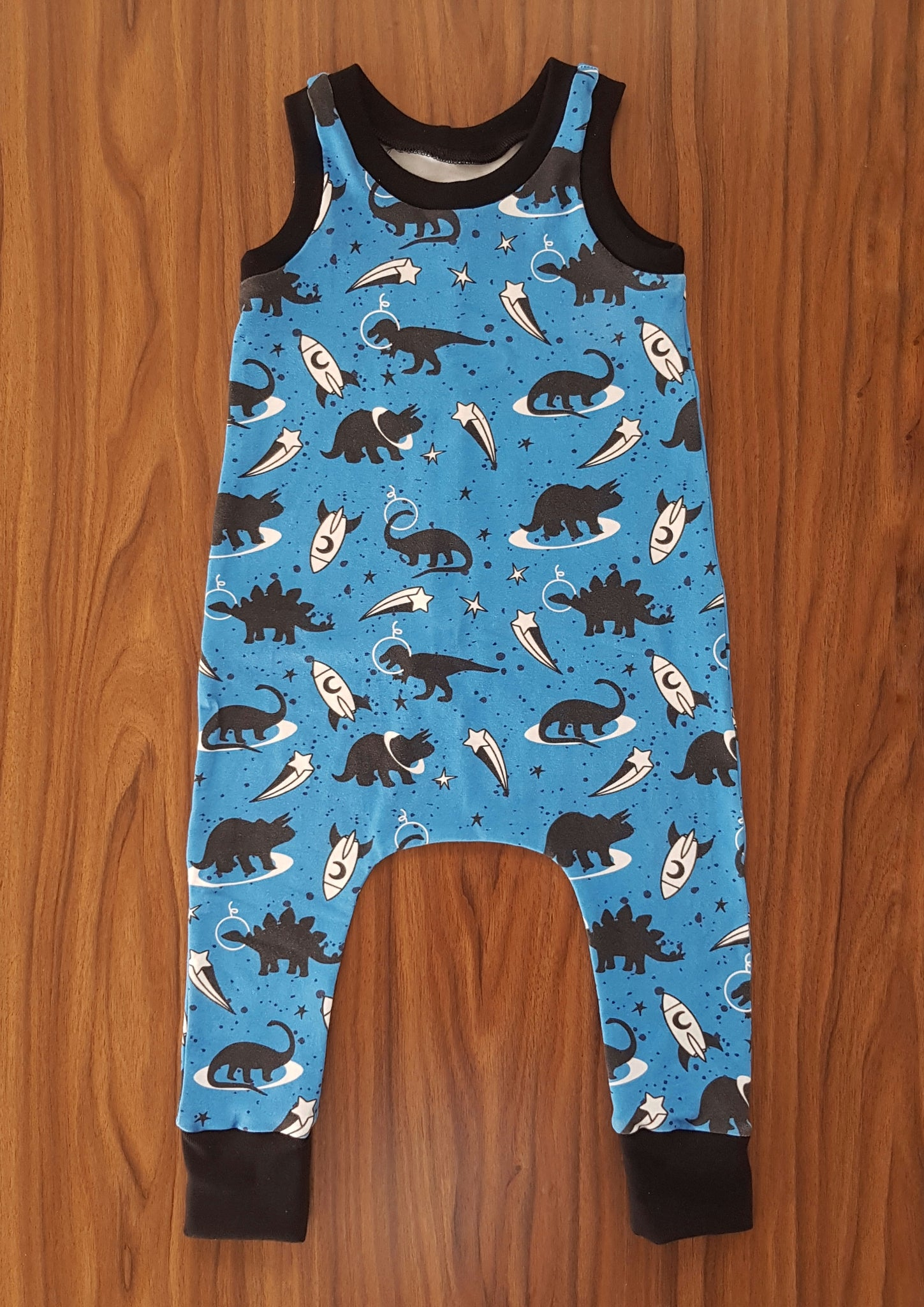 Baby Toddler Space Dino Romper - From Harper
