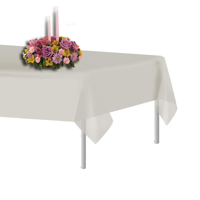 Plastic Table Cloth Single Use Disposable Light Plastic Covers