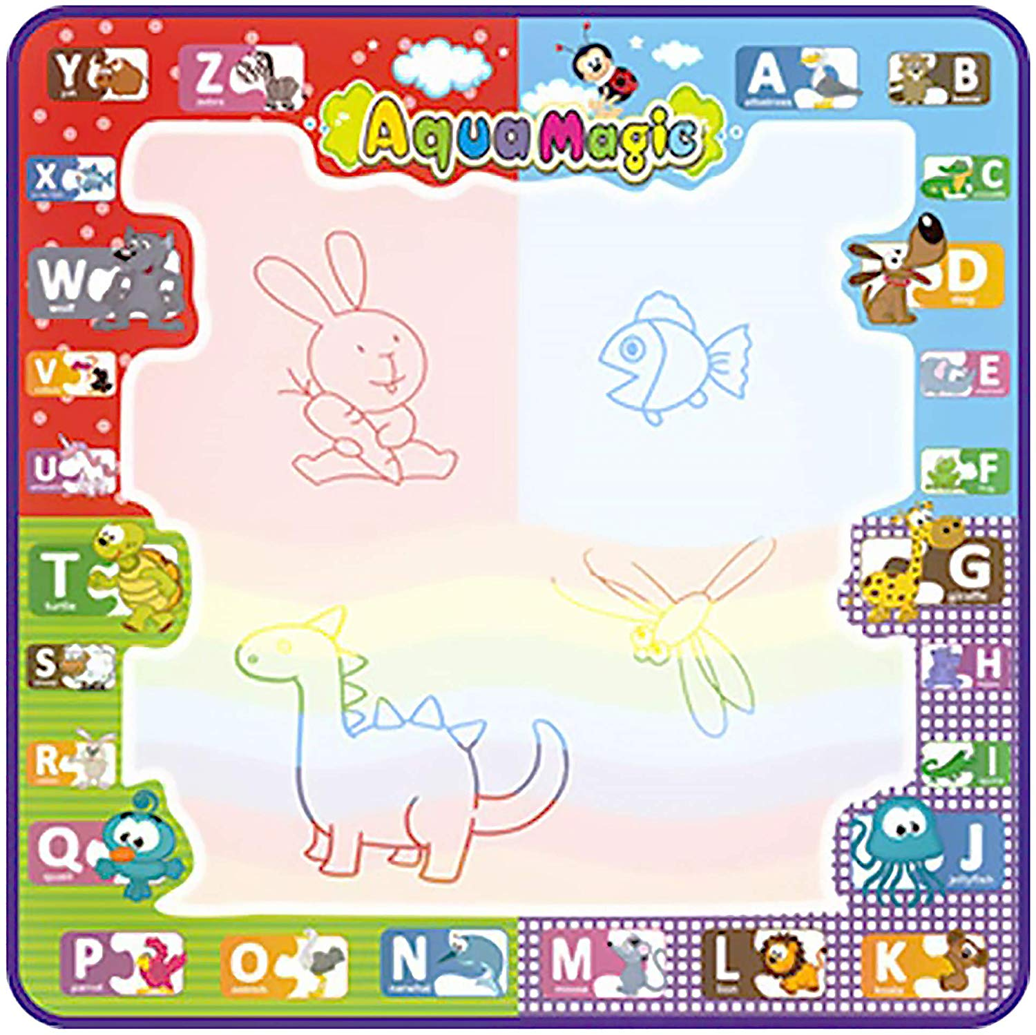 Logics Best Activity Mat for Learning- Premium Water Drawing Mat for Kids Age 2-5 Years Old, Toddler Educational Gift