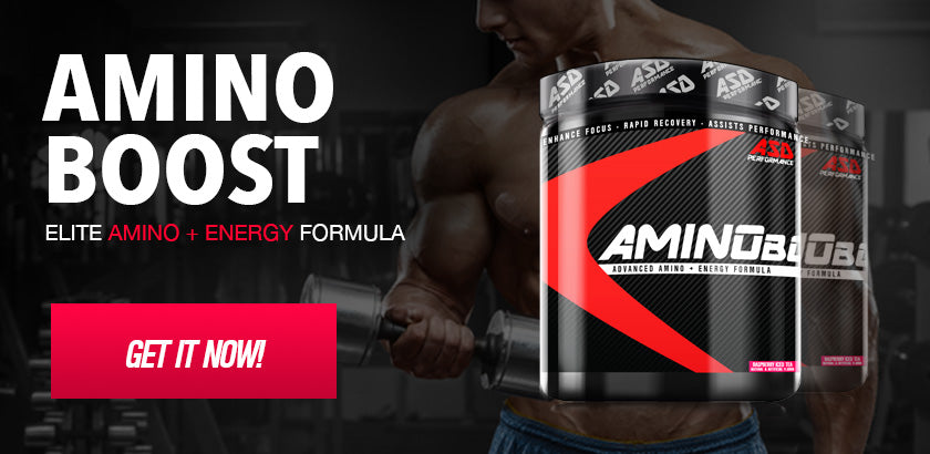 Amino Boost is an elite BCAA + Energy formula that is so versatile it can be used, Pre, Intra and post workout. AMINO Boost will give you the edge to dominate every workout, it is packed with 5 g of amino acids, including BCAA's, and contains elite energy boosting ingredients including Caffeine, Theobromine and green Tea Extract.