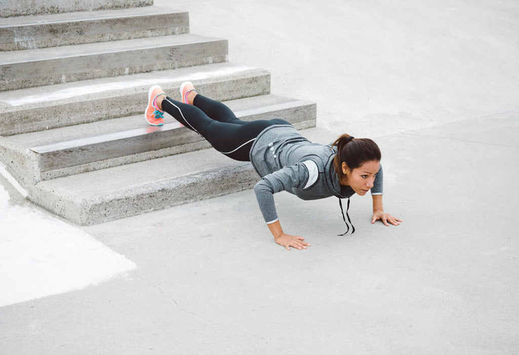 Feet-elevated push-up