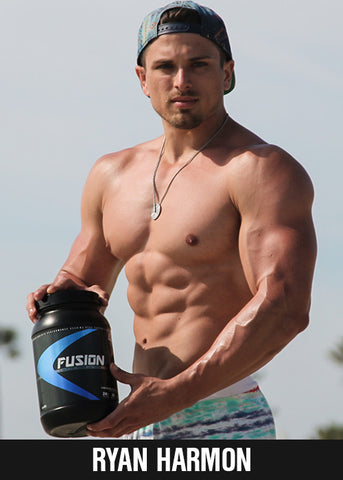 Ryan Harmon ASD Fitness Model, ex-college wrestler and fitness competitor, Strong Snax ryanstacks.com, muscle building workouts