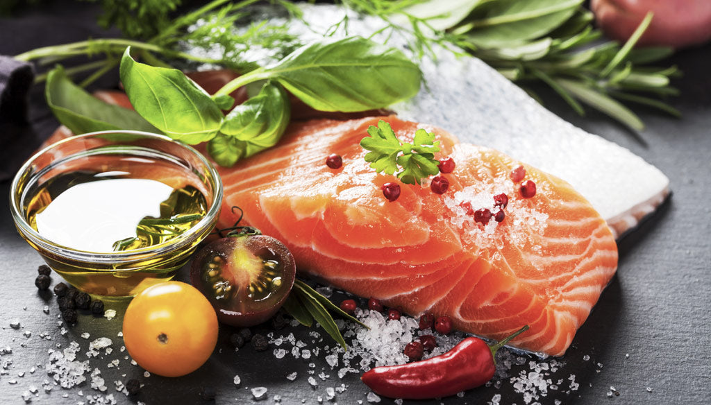 Salmon a contains healthy fats