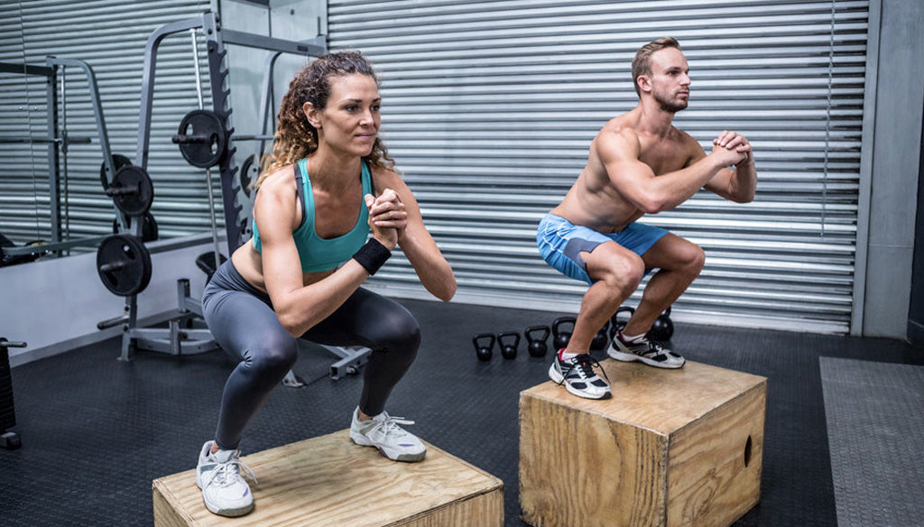 Superset leg day with box jumps