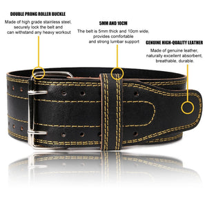 Heavy duty Leather Weightlifting Belt