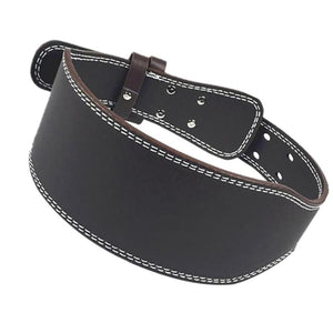 Black Leather Weightlifting Belt