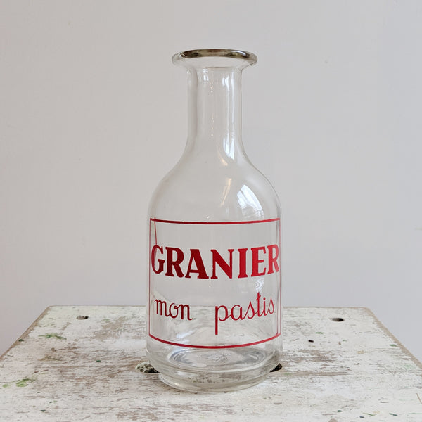 French Vintage Pastis Bottle for Red Kitchen