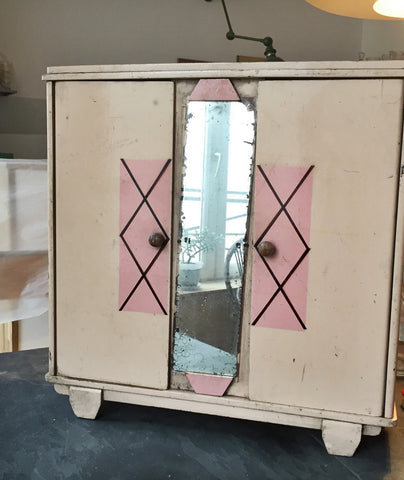 French Vintage Cabinet in Pink-Faraway Places