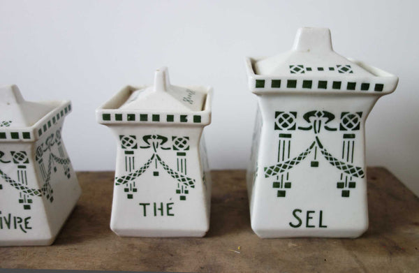 French Vintage Ceramic Spice Set-Faraway Places