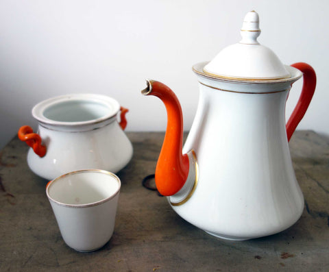 French Vintage Ceramic Tea Set-Faraway Places