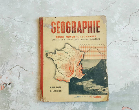 French Vintage Children's Book on Geography With Maps-Faraway Places