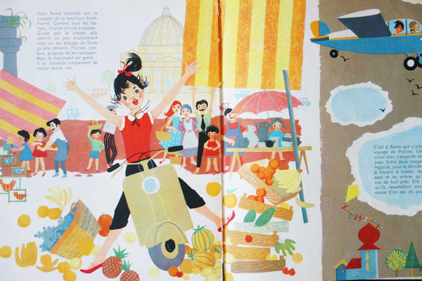 French Vintage Children's Travel Books-Faraway Places