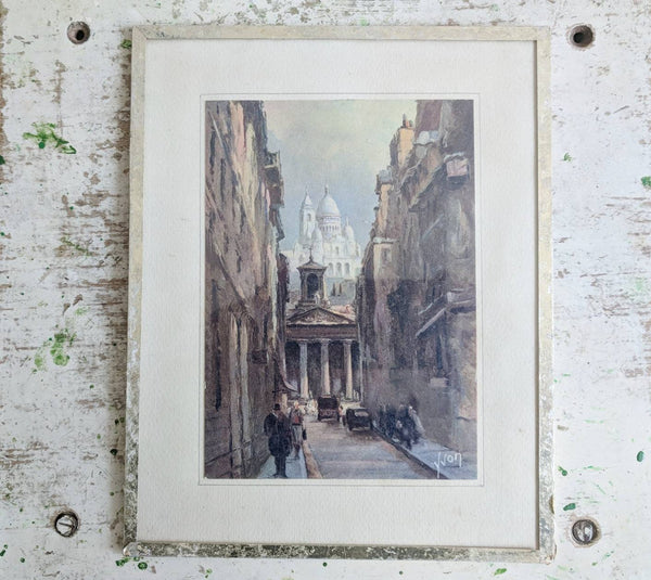 Montmartre Paris as Shown in Vintage French Print