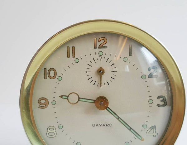 Vintage French Alarm Clock, Perfect for Shelfies