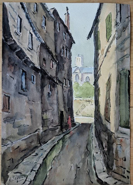 Beautiful Watercolor Painting of Old Paris
