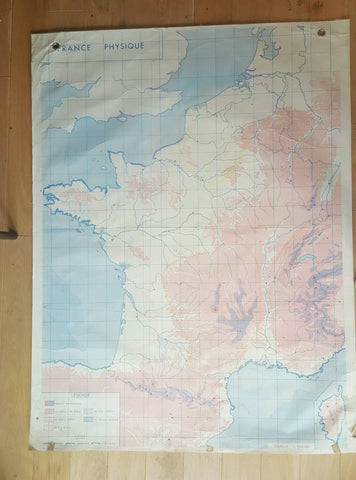 Vintage Map of France-Faraway Places